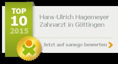 Zahnarztpraxis Hagemeyer Top 10 Platzierung bei Sanego